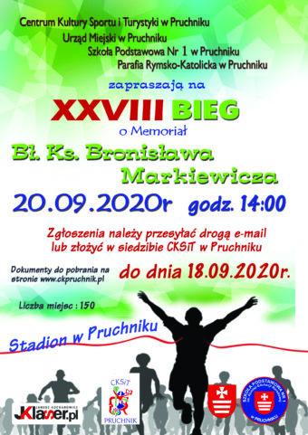 Bieg o Memoriał bł. ks. Bronisława Markiewicza – 20.09.2020 r.