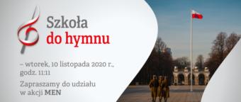 """""""Szkoła do Hymnu"""" 10.11.2020 r."""